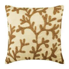 Gold Art Silk Throw Pillow Cover, Coral Shine – The HomeCentric