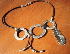 asymmetrical necklace Boho jewelry bohemian jewelry by kekugi