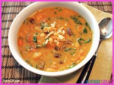 Peanut and Pumpkin Soup - http://www.motherslibrary.com/peanut-pumpkin-soup/