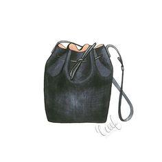 #onesizefitsall #bucketbag #ifyoucantfetchitsketchit #fashionillustration #fallstyle #summertofall #creeforiginals #mansurgavriel