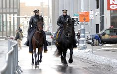 Two mounted police officers Detroit