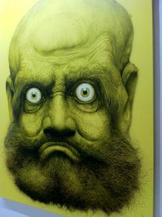 """frightening! At Arario Gallery, Hyung Koo Kang, """"Bodhidharma"""""""