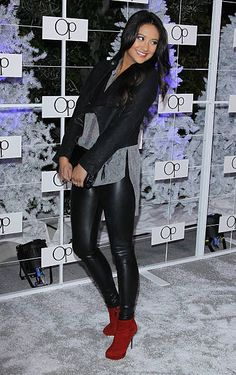Shay Mitchell arrives at OP celebrates Fall/Holiday 2011 campaign 'Winter Wonderland' event held at Siren Studios on November 16 2011 in Hollywood...