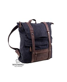 Unisex+canvas+leather+backpack,+women+men+backpack+from+TM+Wigwag+by+DaWanda.com