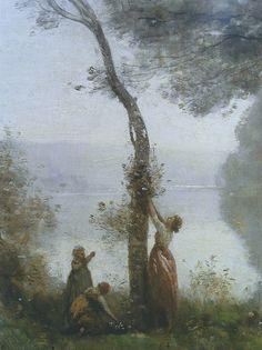 Camille Corot: Souvenir de Mortefontaine (détail) (1864)