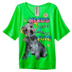 Perrito real   Knitworks Dog Neon Top - Girls 7-16