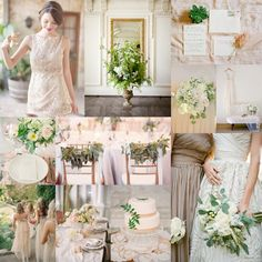 Blush with olive green.  Generous hints of rose gold abound, and garlands and sprigs of olive branch accompany lush arrangements of peonies and garden roses with neutrals thrown in