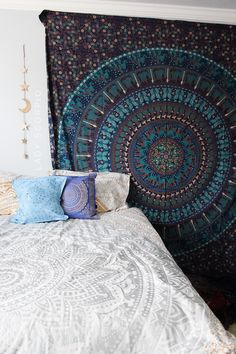 I LOVE Turquoise & Blue Boho Room☽ ✩ Save 25% off all orders with code PINTERESTXO at checkout | Bohemian Bedroom + Home Decor | Mandala Tapestries, Pillows & Wall Hanging Decor + Twilights by Lady Scorpio | Shop Now LadyScorpio101.com | @LadyScorpio101 | Photography by Luna Blue @Luna8lue