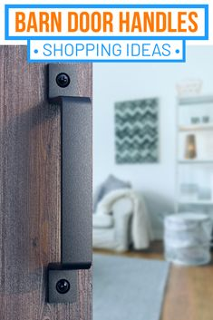 A variety of barn door handles - 8, 10 and 12 inch. This high quality piece of barn door hardware can be used for doors, gates, garages, barns, sheds, closets, sliding doors – both exterior and interior.   Its design allows it to be used as a luxury, high end addition to your interior home décor as well as to enhance the rustic charm of your massive barn door, gate, shed or garage #barndoorhandles #farmhousedoorhandles #barndoorhandlesdiy Gate Handles, Barn Door Handles, Sliding Barn Door Hardware, Sliding Doors, Garage Shed, Steel Gate, Black Barn, Barns Sheds, Door Gate