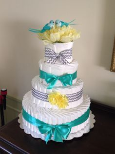 Gender Neutral Diaper Cake