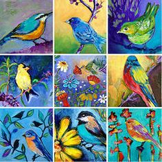 Folt Bolt - the colorful art palette Colorful Artwork, Bird Design, Art Journal Inspiration, Bird Art, Beautiful Birds, All Art, Art Images, Paper Art, Graphic Art