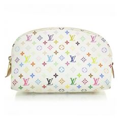 ec4b77260e LOUIS VUITTON Multicolor Cosmetic Pouch White ❤ liked on Polyvore featuring  beauty products
