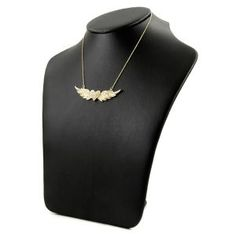 89.99 Emitations Hayley's Flying Heart Pave CZ Angel Wing Necklace - Gold #F-EMP002-GD