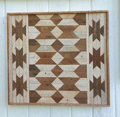 Reclaimed Wood Wall Art Wood Wall Decor Geometric by PastReclaimed