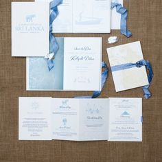 Ceci Bride Kelly's Sri Lankan booklet wedding invitations tie closed with an elegant hand-dyed silk ribbon. Custom designed by Ceci New York.
