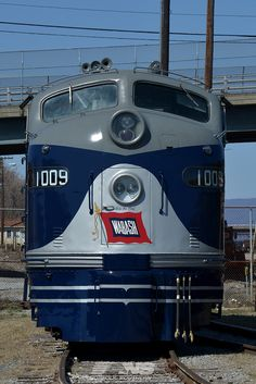 """Wabash E8A #1009 was the 10,000th diesel locomotive built by Electro-Motive Division, commemorated on June 14, 1951, at its LaGrange, Illinois, facility.  She is planned to celebrate its 63rd birthday during the """"Streamliners"""" event at the North Carolina Transportation Museum in Spencer, North Carolina, from May 29 through June 1, 2014. Hope to see you there. www.nscorp.com"""