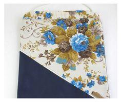 Turnbeutel - Rucksack kunstleder - Blau blumen aus Barcelona - ein Designerstück…