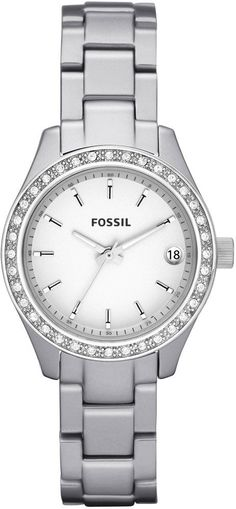 #Fossil #Watch , Fossil ES2961 Ladies Stella Aluminium Silver Crystals Watch