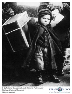 Little Italian immigrant at Ellis Island - DETERMINED