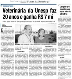 Veterinária da Unesp faz 20 anos e ganha R$ 7 mi – Campus terá hospital para tratar animais silvestres