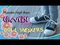 How to Make Monster High Converse Inspired Sneakers – Making Doll Sneake...