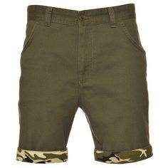 Cloak & Dagger Clayton Shorts. Cotton chino style shorts with a camo print turn up in a contrasting order