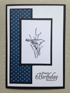 (Also good for sympathy card) Handmade Male Birthday Card Birthday Cards For Women, Happy Birthday Cards, Men Birthday, Birthday Greetings, Masculine Birthday Cards, Masculine Cards, Cards For Men Handmade, Happpy Birthday, Homemade Birthday Cards