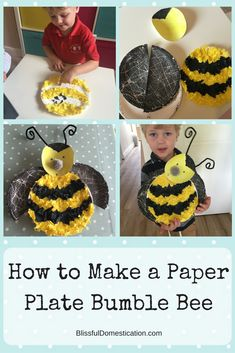Paper Plate Bumble Bee Craft for Children