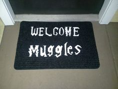 Welcome Muggles Mat by NerdPhrases on Etsy