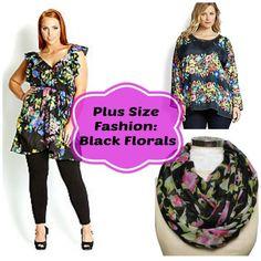 Plus Size Fashion: Black Florals Splurge and Steals #plus #plussize #fashion #shopping affiliate