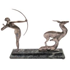 Bronze French Art Deco Archer | From a unique collection of antique and modern bronzes at http://www.1stdibs.com/furniture/more-furniture-collectibles/bronzes/