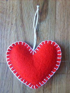 felt ornament with blanket stitch