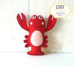 Lobster Sewing Pattern Stuffed Lobster от LittleSoftieShoppe