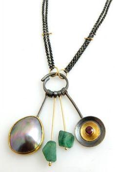 Emerald Cortez cluster necklace | Sydney Lynch