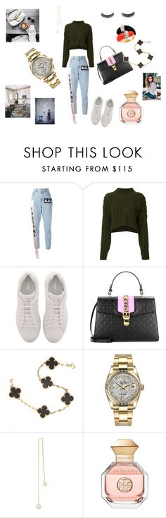 """Leger"" by maria-chamourlidou ❤ liked on Polyvore featuring Au Jour Le Jour, Vivienne Westwood Anglomania, Fendi, Gucci, Victoria Beckham, Van Cleef & Arpels, Rolex, Delfina Delettrez and Tory Burch"