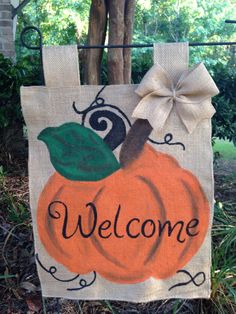 A personal favorite from my Etsy shop https://www.etsy.com/listing/451759802/fall-pumpkin-garden-flag