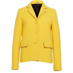 Button Down Jacket   Moda Operandi (63 050 UAH) ❤ liked on Polyvore featuring outerwear, jackets, button up jacket, button down jacket and yellow jacket