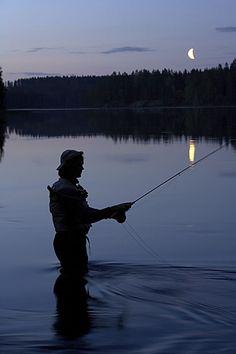 Fisherman in Central Ostrobothnia province of Western Finland - Keski-Pohjanmaa