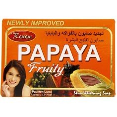 Renew Papaya Skin Whitening Soap All of us want to have bright shiny glowing skin that is soft and supple to touch. We all want to get rid of any spots or blemishes that reduce our beauty, for all these problems Renew Papaya Whitening soap is the answer! It gives flawless, blemish free, fairer, younger looking skin in no time. It not only provide whitens and helps to eradicate all kinds of skin problems including acne, marks, wrinkles, dark circles around eyes, freckles and other skin diseases. Dark Circles Around Eyes, Skin Whitening Soap, Younger Looking Skin, Skin Problems, Soap Making, Freckles, Glowing Skin, Acne Marks, Skin Care