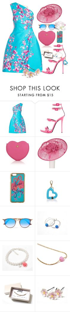 """""""Turquoise"""" by treasury ❤ liked on Polyvore featuring Monique Lhuillier, Giuseppe Zanotti, Vivienne Westwood, John Lewis, Lilly Pulitzer, Salvatore Ferragamo and Ray-Ban"""