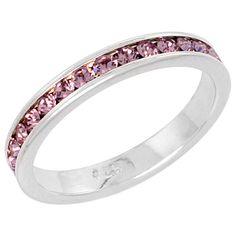 Rena: Stackable Simulated Alexandrite Birthstone Eternity Band Ring - Trustmark Jewelers