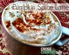 Pumpkin Spice Latte made with Keurig Kcup coffee