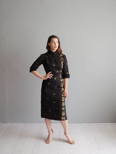Jahrgang der 1960er Jahre Shaheen Kleid-60er von concettascloset