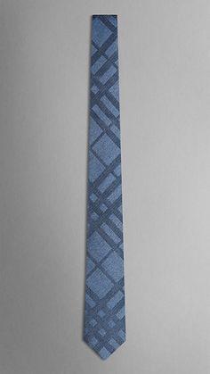 Tonal Check Silk Tie | Burberry