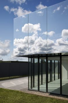 polished aluminium facade on the West Limerick Children's Centre... by SATA