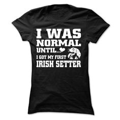 Irish Setter T-Shirts, Hoodies. GET IT ==► https://www.sunfrog.com/Pets/Irish-Setter-60423647-Ladies.html?id=41382