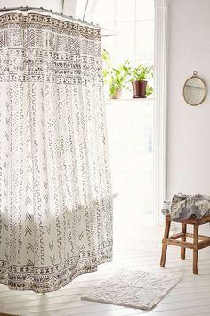 4040 Locust Nomas Shower Curtain - Trend We Love: Mud Cloth Design Urban Outfitters, Plywood Furniture, Furniture Design, Modern Bathroom, Small Bathroom, Bathroom Ideas, Tiny Bathrooms, Bathroom Inspo, Budget Bathroom