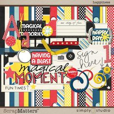 Happiness: digital scrapbooking kit
