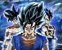 Goku Ultra Instinct, Vegeta Ultra Instinct, Vegito Ultra Instinct.