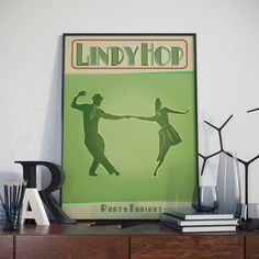Lindy Hop Poster. High Quality Print. by Tedsposters on Etsy